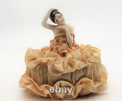 German Half Doll Vogue Perfumery Powder Unopened circa 1911 Art Deco Marked