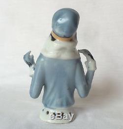 Glam Lady Fur Top Pin Cushion Half Doll Porcelain Germany Fasold Style Vtg Japan