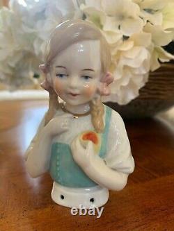 Group of Antique German Porcelain Half Dolls- Circa 1910