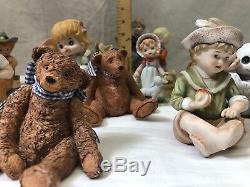 HUGE LOT OF VINTAGE PORCELAIN CHILDREN FIGURINES 1950s Cupie & Piano Dolls