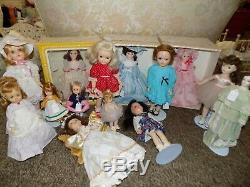 HUGE doll collection Antique Vintage Modern bisque composition Cissy barbie Toni