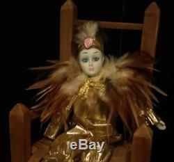 Haunted Antique/vintage Porcelain Clown Jester Spirit Doll Witch Spirit