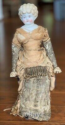 Helen Pet Name Blonde German Glazed Porcelain China Head Doll by Hertwig 24