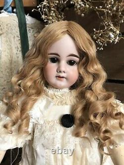 Human Hair Hand Made Wig For Antique Bisque Porcelain Doll