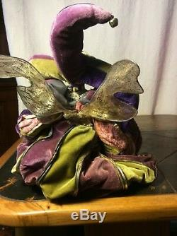 Jester Doll Vintage Hand Crafted Gothic Collectors Porcelain Fabric 75cm/29