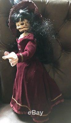 Katherine Special Edition Skull Dolly Vintage Rewoked Doll OOAK Gothic
