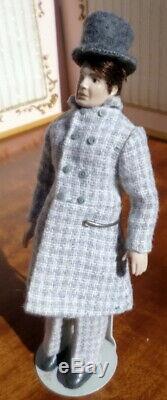 LOVELY Vintage ERNA MEYER Porcelain 6 MAN Dollhouse Doll