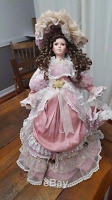 Large Vintage Porcelain Doll 27 Inches