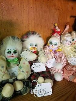 Last Chance as a Lot Vintage porcelain clown dolls