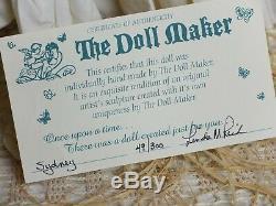 Linda Rick, Sydney & Her Antique Teddys The Dollmaker, Porcelain Doll, New