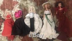 Lot Of 5 Vintage Barbier Dolls With (1) Crystal Rhapsody Barbie Porcelain