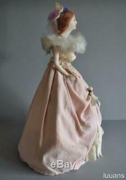 Lovely Rare Vintage Bisque Porcelain Rokoko Figure Boudoir Figurine Half Doll