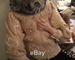 Lovely Vintage Edna Daly Hand Made Wax Edwardian Victorian Style Lady Doll