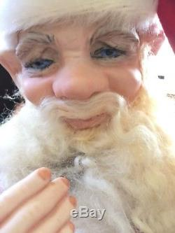Lucille Garrard L. E. Porcelain Doll Santa Elf Like Face 1979 Vintage