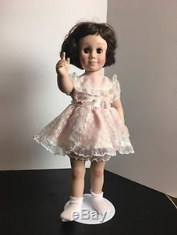 MBI Vintage Talking CHATTY CATHY 17 Porcelain doll Brown Bob Brown Eyes