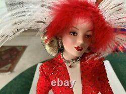 Marilyn Monroe Franklin Mint Gentlemen Prefer Blonds Porcelain Doll Red Gown