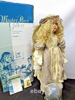 Master Piece Gallery LINDA VALENTINO-MICHEL PORCELAIN DOLL Charity 30in NRFB