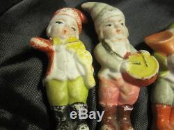 OLD 5 PORCELAIN VINTAGE 3-3.5 Musician Figurines Made in Japan, Original Paint