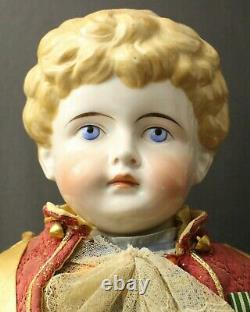 OUTSTANDING LARGE GERMAN ANTIQUE MALE CHINA DOLL by'KLING