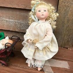 Ooak Phylliss Parkins + 3 One Of A Kind Severino Babies + Vintage Carriage