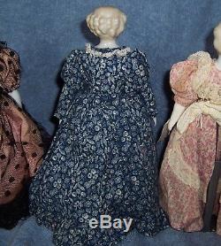 PRETTY! 10 Vintage Antique German Porcelain China Head Doll