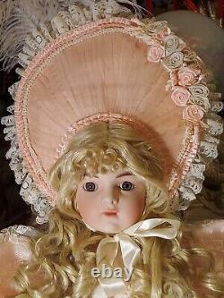 Pat Loveless Antique Pink Reproduction Bru Jne 36in Victorian BeBe Porcelain