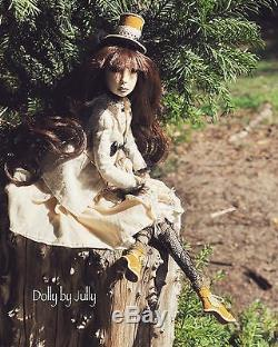 Penelope. Collectible Handmade Bodouir Art Doll Vintage Style OOAK Antique doll