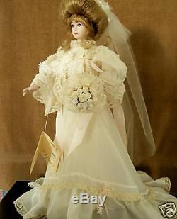 Porcelain Bride Doll Isabel Vintage Classic Gibson Girl By Gambina Series7512