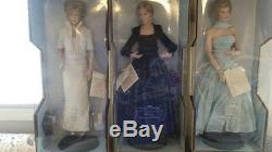 Porcelain Dolls/ Princess Diana/ Purchased 1998/ Franklin Mint/ NEVER DISPLAYED