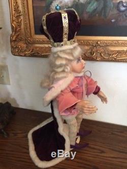 Porcelain doll, Vintage 1980 ELFIN KING, Wicket Originals Faith Wick