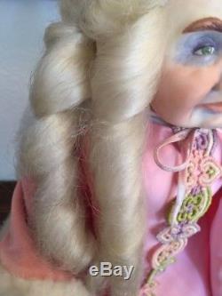 Porcelain doll, Vintage 1980 ELFIN QUEEN, Wicket Originals Faith Wick