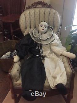 Porcelain doll head harlequin silvestri
