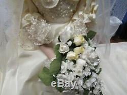 Princess Diana Wedding Doll Vintage 1980's Danbury Mint Porcelain w Stand 222242