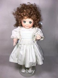 RARE VINTAGE JDK 221 BISQUE GOOGLY EYE PORCELAIN JOINTED DOLL GERMANY 20 Tall