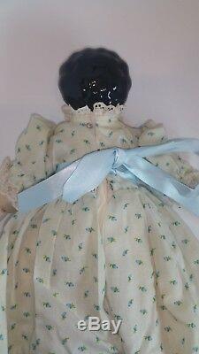 RARE Vintage Antique German Glazed Porcelain China Doll Hertwig NEAR Mint 14
