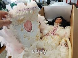 RARE Vintage RUSTIE Large 34 Porcelain Doll Unknown Special Ed #1 w Box & COA