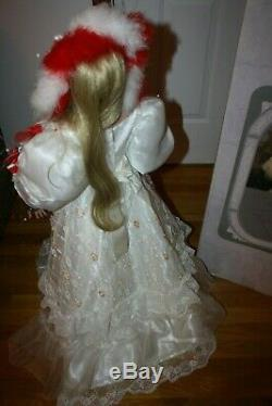 RUSTIE VINTAGE LIBERTY #313/1000 36 inch porcelain doll Beautiful with stand box