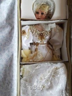 RUSTIE vintage ANGELICA NIB/NRFB, LE COA #499/2000 33 inch porcelaine doll