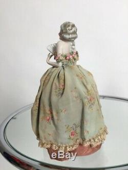 Rare 1920s half doll Fasold and Stauch vintage antique pin cushion