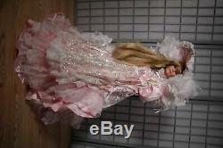 Rare 36 Rustie Shanel Designer Porcelain Doll Pink Victorian Dress Blonde- LE