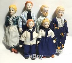 Rare Antique Doll Family Porcelain Ceramic Dolls Doll House Dolls Vintage Dolls