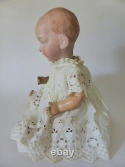 Rare Antique EINCO No. 1 Bisque Doll, All Original Eisenmann and Co. Porcelain