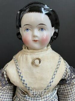 Rare Antique German 17 Brush Strokes Exposed Ears China Head Child Girl Doll