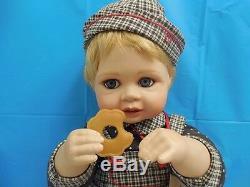 Rare! Collectible Andrew Porcelain Baby Doll Hertiage Hamiliton Collection Coa