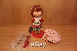 Rare Danbury Mint 2003 Porcelain Strawberry Shortcake Doll original tag & box