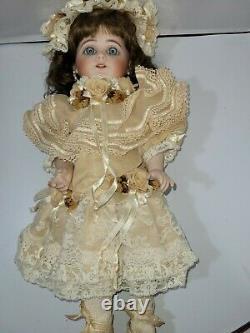 Rare & Stunning 17 Simon & Halbig 719 Porcelain Doll with Square Cut Teeth