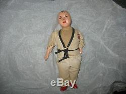 Rare Unknown Japan China Judo Karate Vintage Antique Doll Porcelain Toy