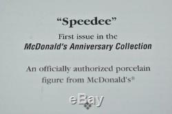 Rare VINTAGE 1996 McDonalds SPEEDEE Advertising PORCELAIN DOLL L. E. COA NEW MIB