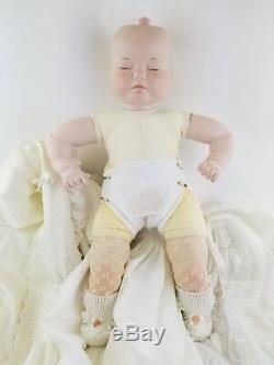 Rare Vintage Adorable Three Face Baby Doll Smile Cry Sleep Complete Outfit