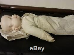 Rare Vintage Conditioned 3 Face Porcelain Doll 21 Tall pls see pics